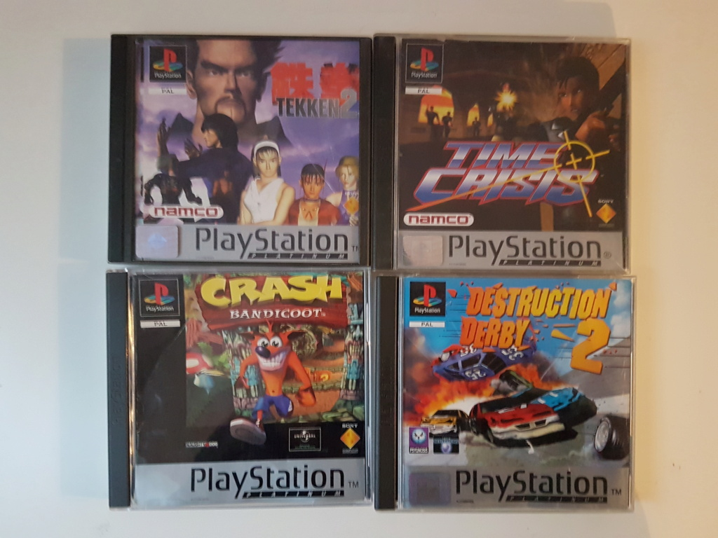 Objectif Fullset PS1 PAL Platinum = 76/152 jeux Ga10