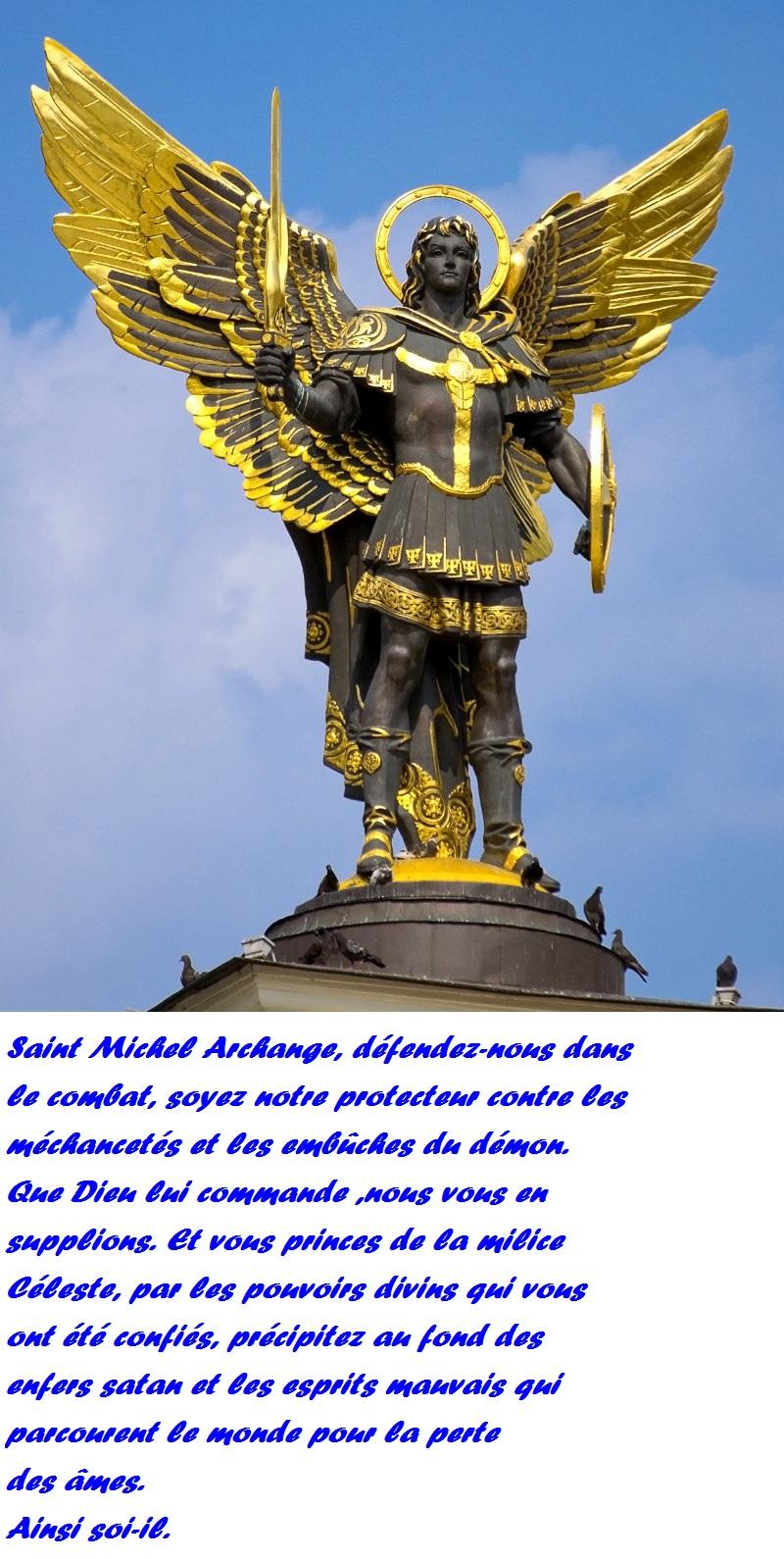 [PRIERE] PRIERE A SAINT MICHEL ARCHANGE Statue12
