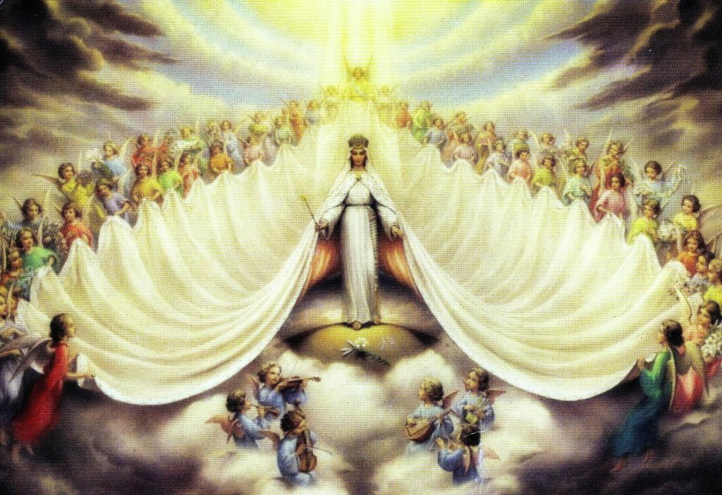 Prière à Marie Auguste Reine des cieux, souveraine Maîtresse des Anges » :  Trinit10