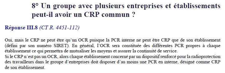 Mise à jour du questions/réponses de la DGT sur les PCR/OCR Ocr_si10