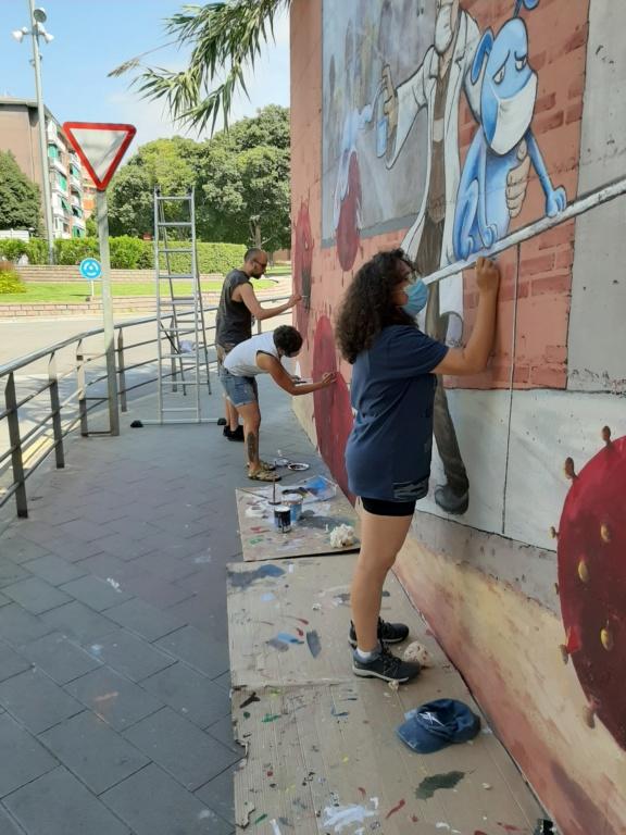 ACAP en Festa Major 2020 mural. 20200715