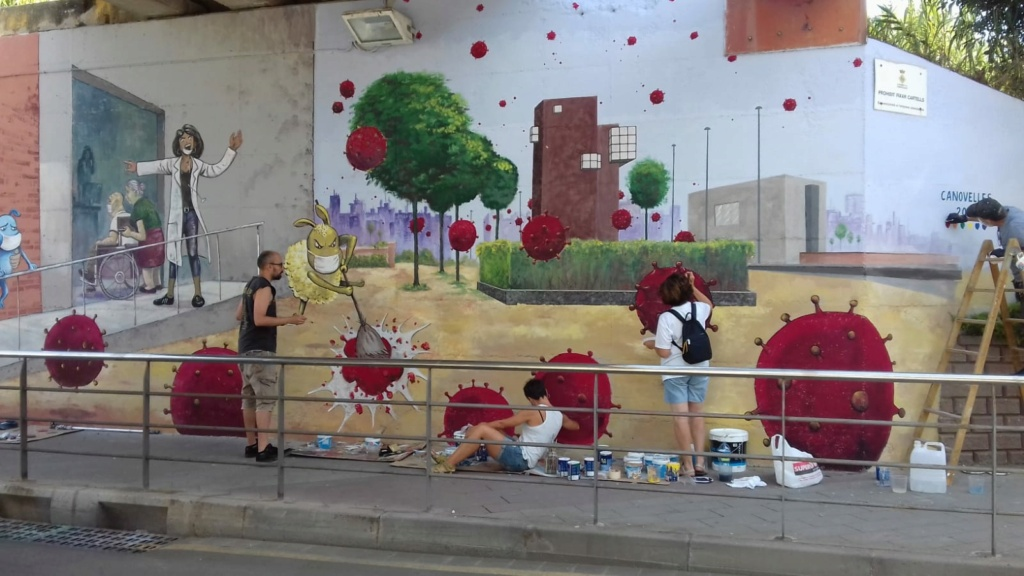 ACAP en Festa Major 2020 mural. Img-2099