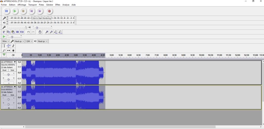 Audacity - Trouver les harmonies Trouve12