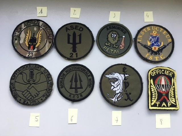 Divers patchs FR US.. Afghanistan et opérations extérieures photos refaites Bb651610