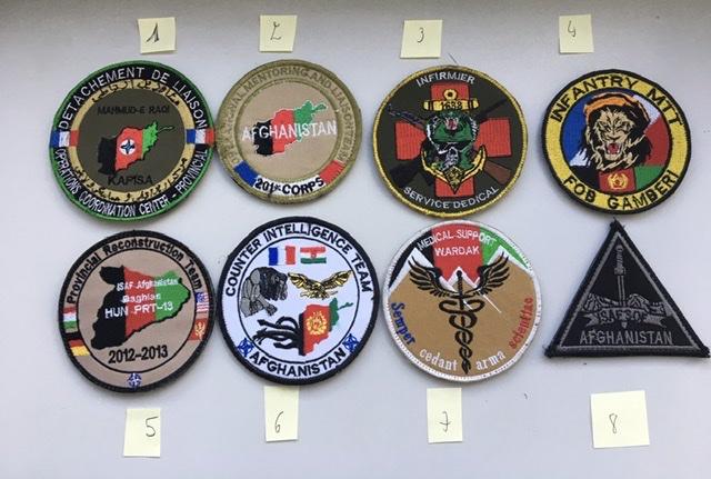 Divers patchs FR US.. Afghanistan et opérations extérieures photos refaites Bc35f910