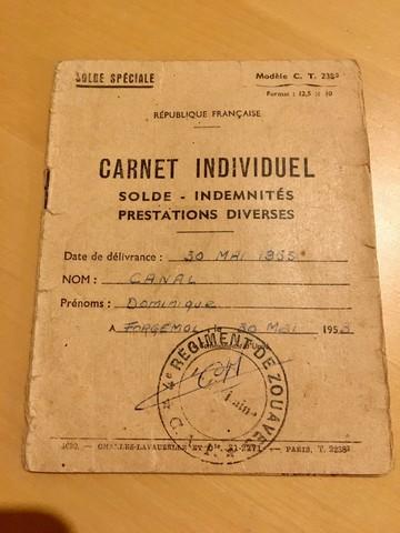 Carnet individuel 4ème zouaves 1953 Indo210