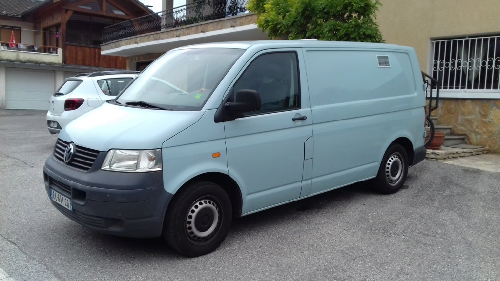 Vends Transporter T5 1.9TDI 104ch, 2005, 181000kms, aménagé 20181019