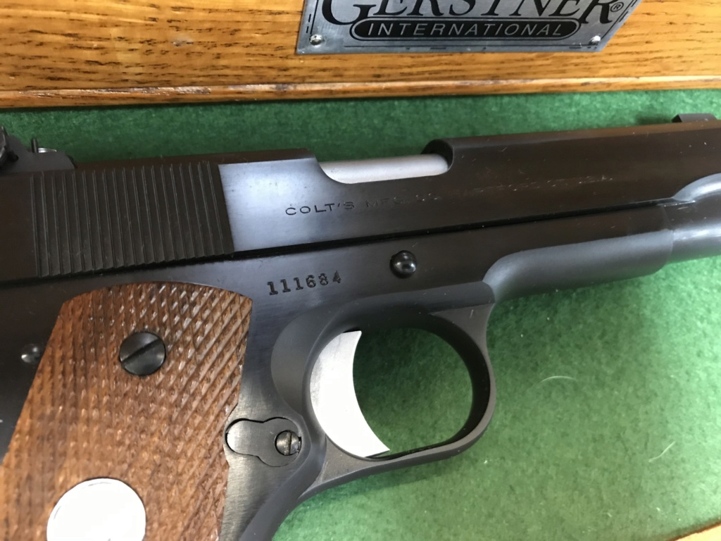 SOLD Derr Precision/Giles 1953 Commercial Colt .38 Special 1911 $2100 shipped 152d5010
