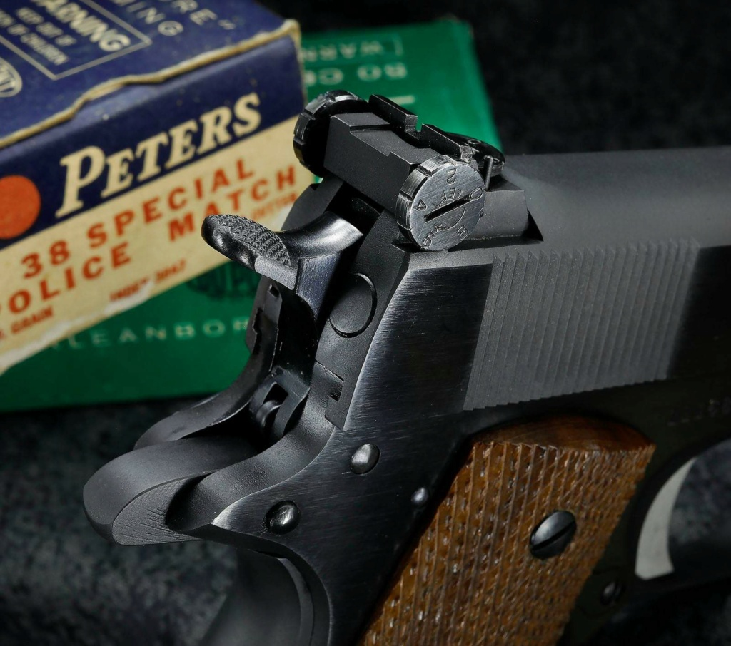 SOLD Derr Precision/Giles 1953 Commercial Colt .38 Special 1911 $2100 shipped A50af110