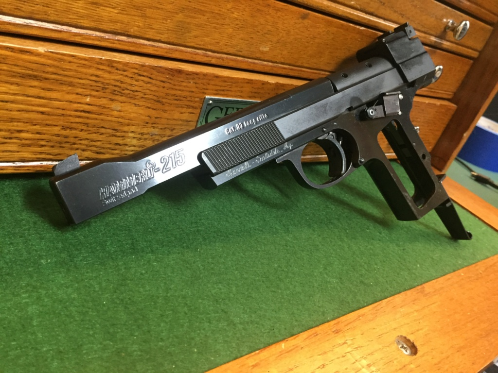 SOLD Hammerli 215 late model 2-stage trigger $1100 with 1 mag, $1200 with 2 Effc6010