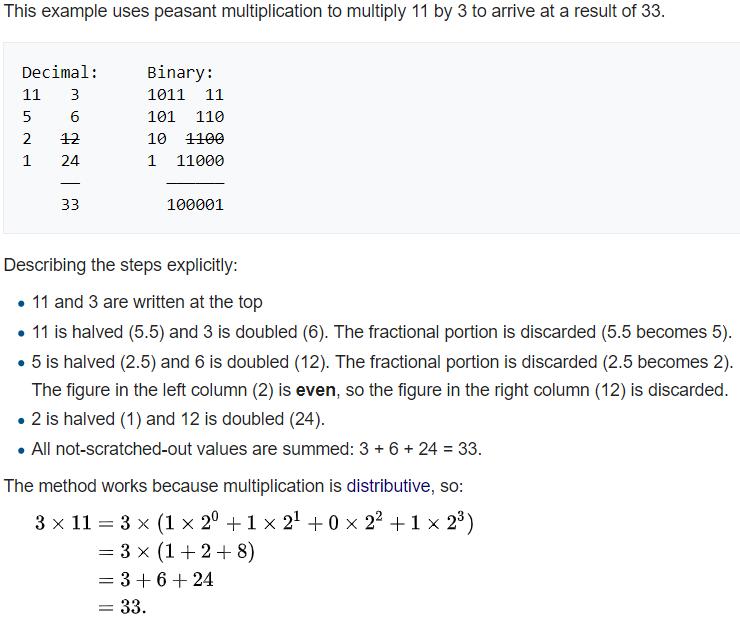 Peasant Multiplication Screen11