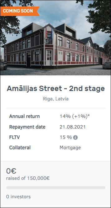 Proyecto Amālijas Street - 2nd stage ( Ren. 14% por 12 meses.) 11018