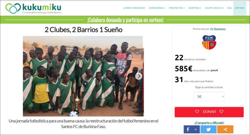 Crowdfunding solidario FC Martinenc. 1279