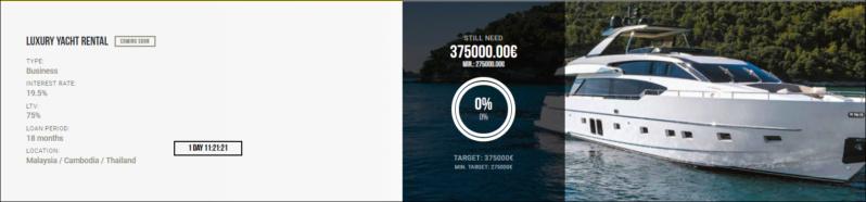 Proyecto Luxury Yacht Rental ( Rent 19.5% por 18 meses 1379