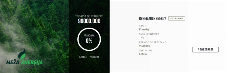 Proyecto Renewable energy ( Rent. 14% por 9 meses)  1566