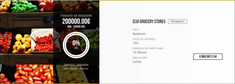 Proyecto ELVI Grocery stores ( Rent. 15% por 12 meses)  1613