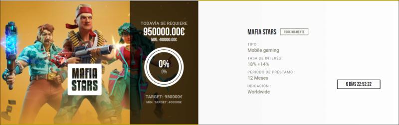 Proyecto Mafia Stars  ( Rent.18% +14% durante 12 meses) Maraton proyectos Septiembre 1628