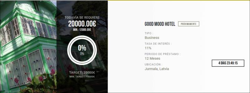 Proyecto Good Mood Hotel (Rent. 11% en 12 meses) Segunda parte del proyecto 1652
