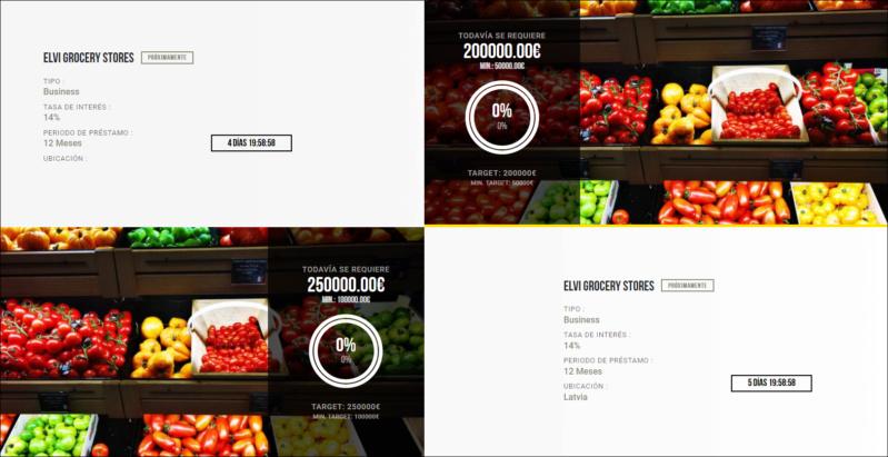 Proyecto ELVI Grocery stores 2 y 3 ( Rent. 14% por 12 meses)  1672