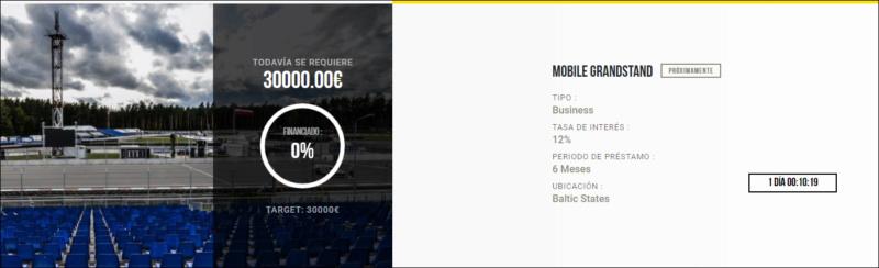 Proyecto Mobile Grandstand (Rent. 12% durente 6 meses)  1711