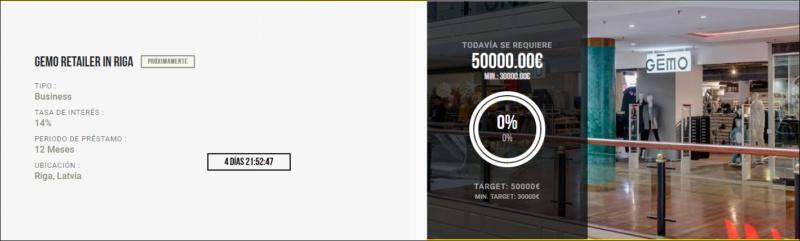 Proyecto GEMO retailer in Riga ( Rent 14% durante 12 meses)  1715