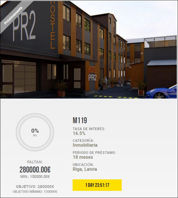 Proyecto M119 ( Rent 16.50% por 18 meses) 1815