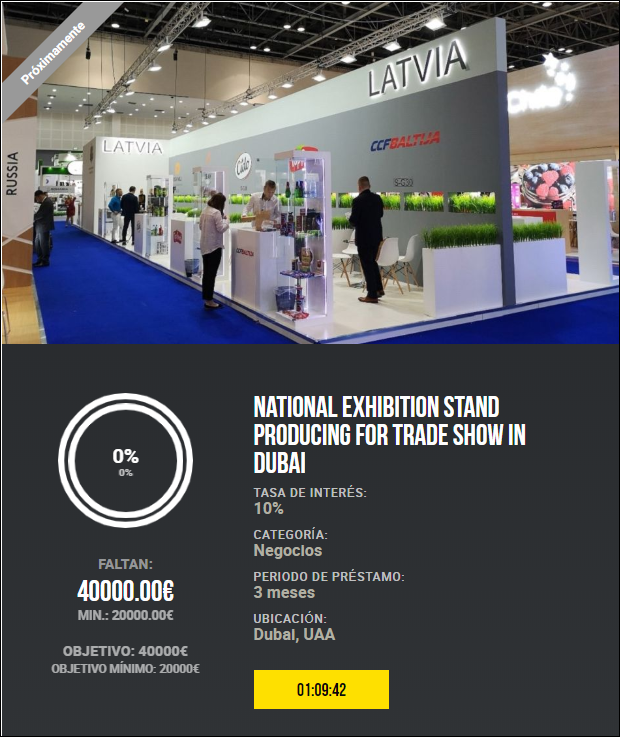 Proyecto National exhibition stand producing for trade show in Dubai ( Rent. 10% durante 3 meses)  1832
