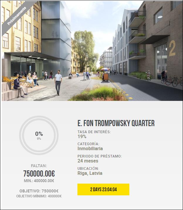Proyecto E. Fon Trompowsky Quarter ( Ren. 19% durante 24 meses)  1853