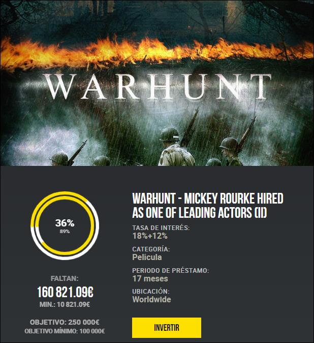 Proyecto WarHunt (II) ( Rent. 18% +12% bonus exito) 1872