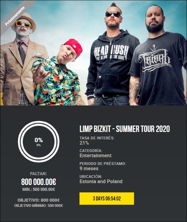 Proyecto Limp Bizkit - summer tour 2020 (Rent. 21% durante 9 meses) 1885
