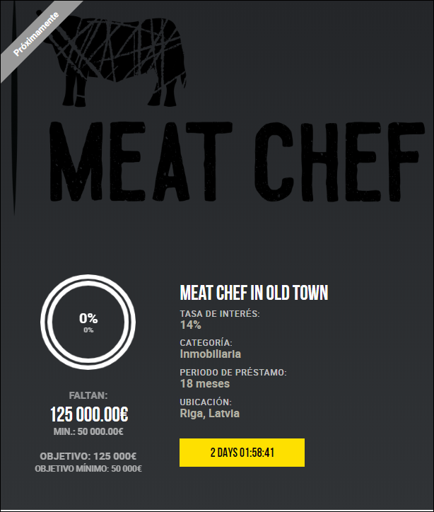 Proyecto Meat Chef in Old Town ( Ren.14% durante 18 meses) 1918