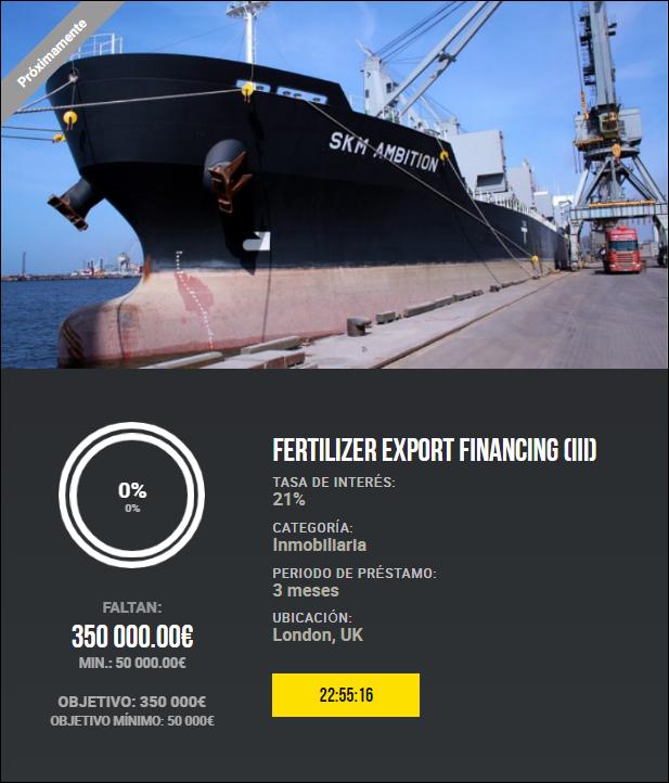 Proyecto Fertilizer Export Financing (III) (Rent. 21% por 3 meses) 1928
