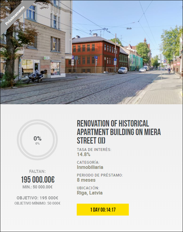 Proyecto Renovation of historical apartment building on Miera Street (II) Rent. 14.80 por 8 meses 1941