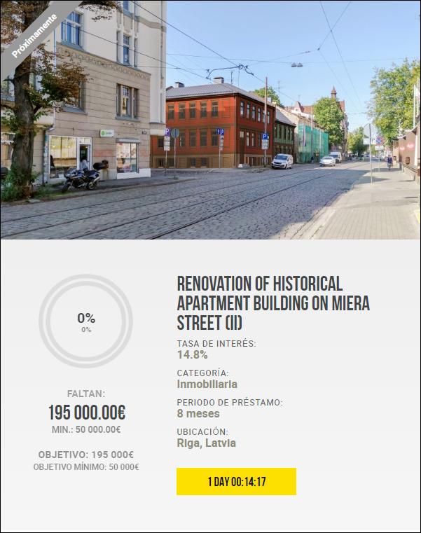 Proyecto Renovation of historical apartment building on Miera Street (II) Rent. 14.80 por 8 meses( pagado 1 año mas tarde por el codvid, pero pagado.) 1941