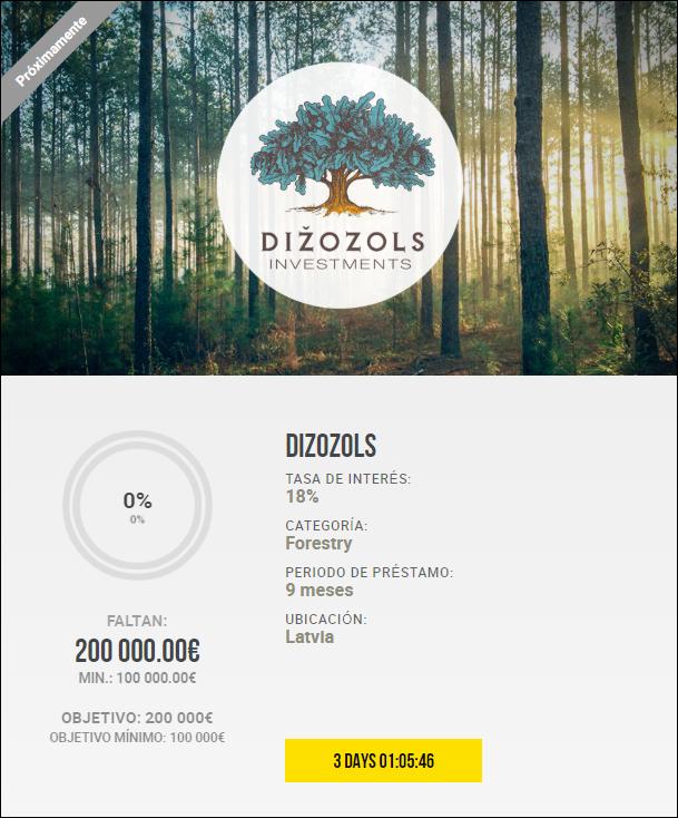 Proyecto Dizozols ( Rent. 14% por 9 meses)  1946