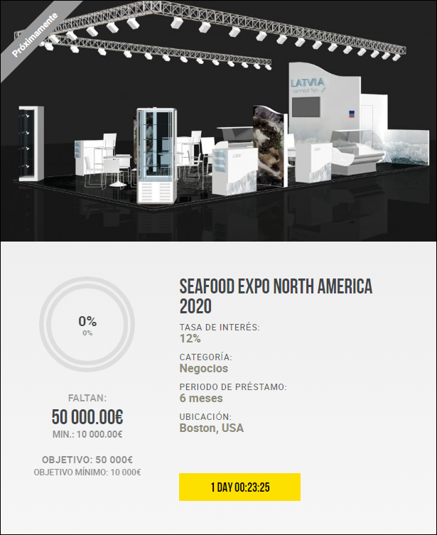 Proyecto Seafood Expo North America 2020 ( Rent. 12 % a seis meses) 1947
