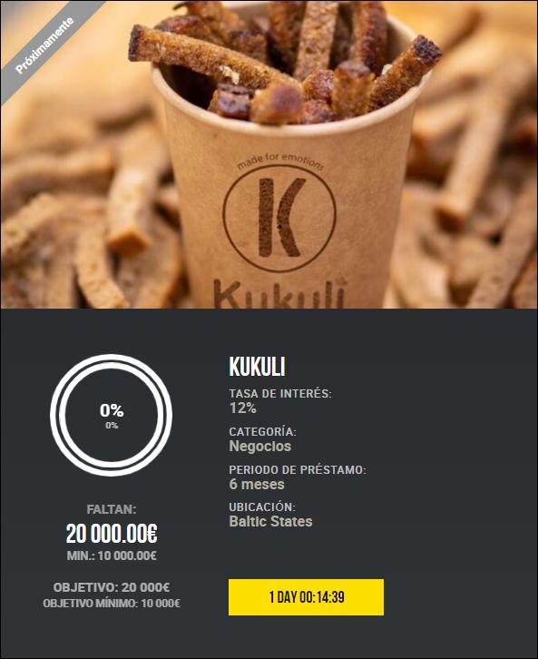 Proyecto Kukuli  ( Rent. 12% a 6 meses)  1949
