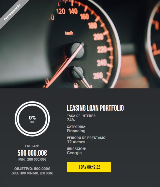 Proyecto Leasing Loan Portfolio ( Rent. 24% por 12 meses)  1953