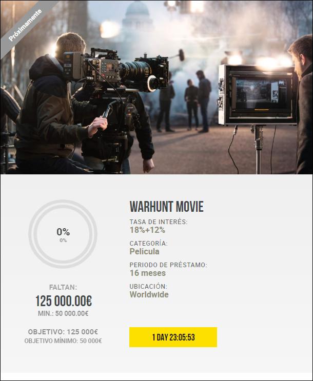 Proyecto WarHunt Movie TIER 4 ( Rent. 18+ 12% bonus a 16 meses) 1954