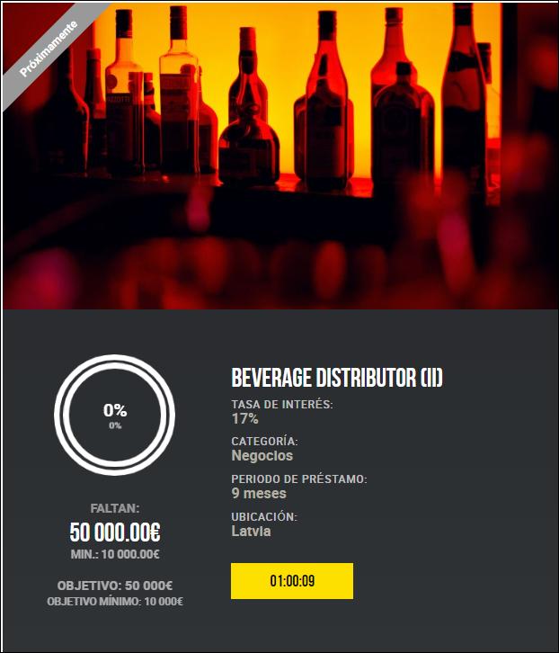 Proyecto Beverage distributor (II) ( Rent. 17% dureante 9 meses)  1982