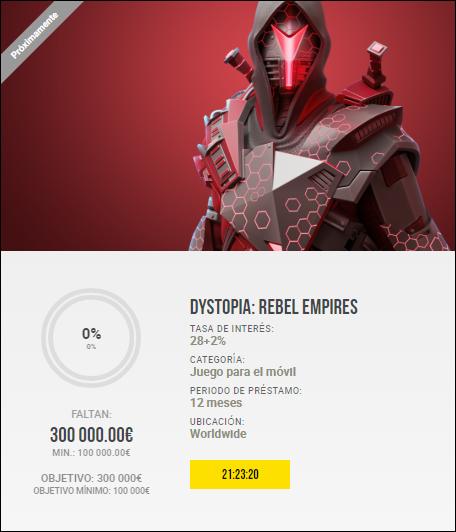 Proyecto Dystopia: Rebel Empires ( Rent. 28+2% por 12 meses) 1996