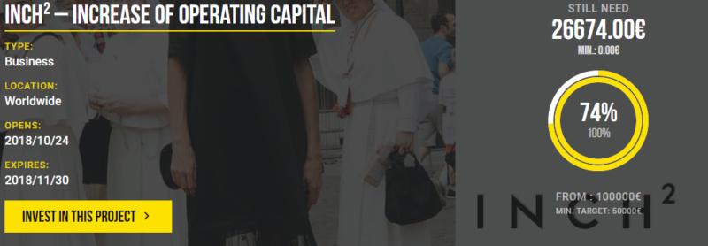 Proyecto Inch2-increase of operating capital. ( interés 17% + 5% sobre objetivos.) Captu119