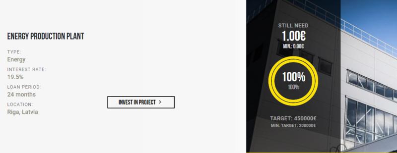 Proyecto Energy production plant ( Rent. 19.50% + 1% de cashback)  Captu134