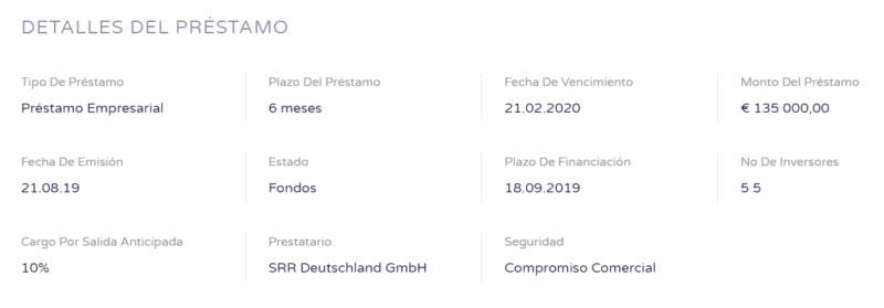 Proyecto HoReCa supplies purchase ( Rent. 19.30 % durante 6 meses ) CERRADO 100% dos meses antes de lo previsto. Captu201