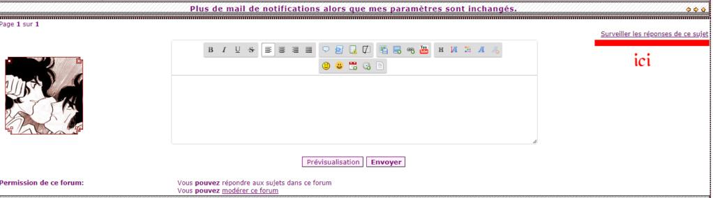 Plus de mail de notifications alors que mes paramètres sont inchangés. Noti10