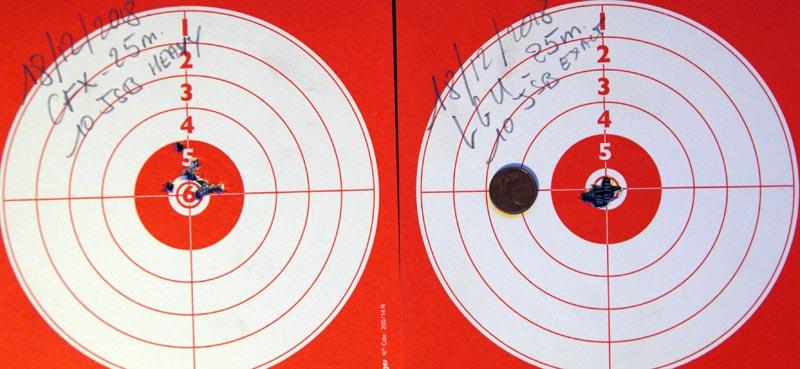 Comparatif Walther LGU - Gamo CFX IGT - 25 mètres Compar10