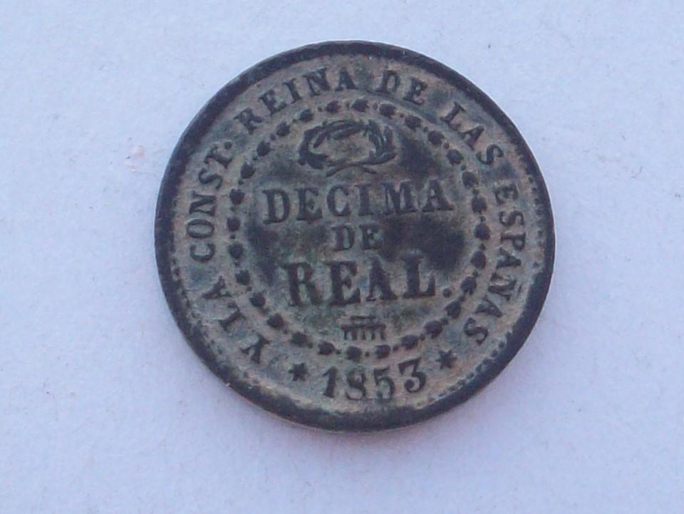 Decima de real 1853. Isabel II . Segovia  102_4558