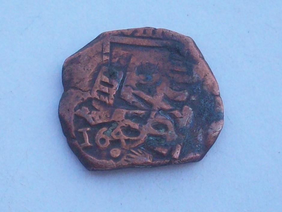 8 Maravedíes de Felipe III o IV resellados a VIII mrvs. de 1641-2 en Toledo, 8 mrvs. de 1651-2 y reacuñación de 1658-9 a IIII mrvs. 102_4569