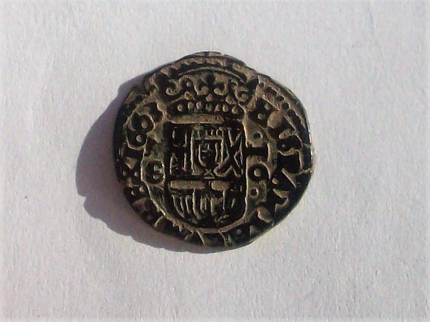 16 maravedis de Felipe IV de Madrid, 1663, falsos de época. 102_4675
