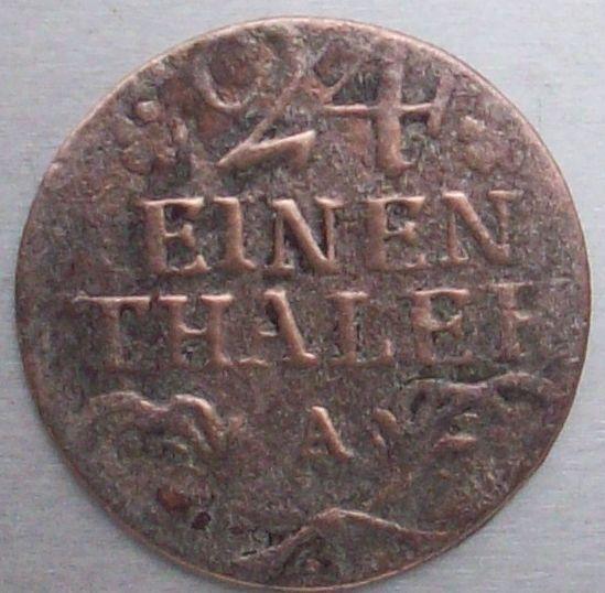 1/24 Thaler. Prusia (1783) Reinado de Federico II 210
